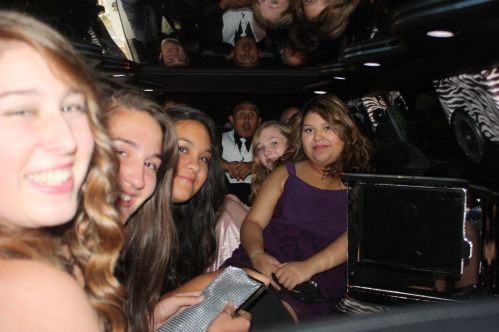 teens in a limo